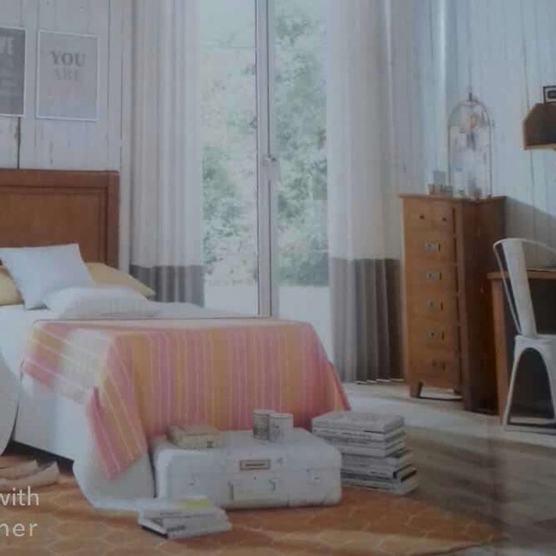 Dormitorio matrimonio de pino