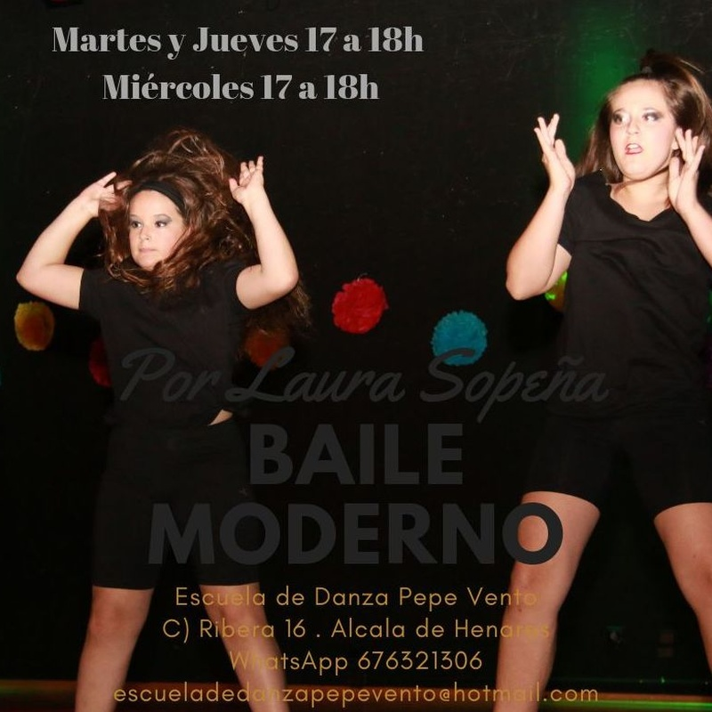 Baile Moderno - Infantil a partir de 8 años: Clases de Escuela de Danza Pepe Vento