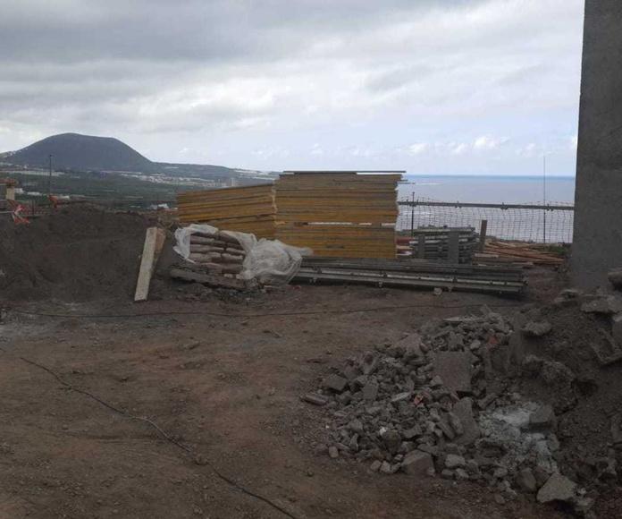 Nueva obra en Las Cruces (Tenerife)