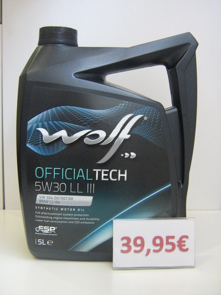 WOLF SYNFLOW  OFFICIALTECH LL 3 LONGLIFE    5W30: Servicios de Safety Car }}