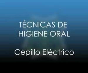 Uso del cepillo eléctrico
