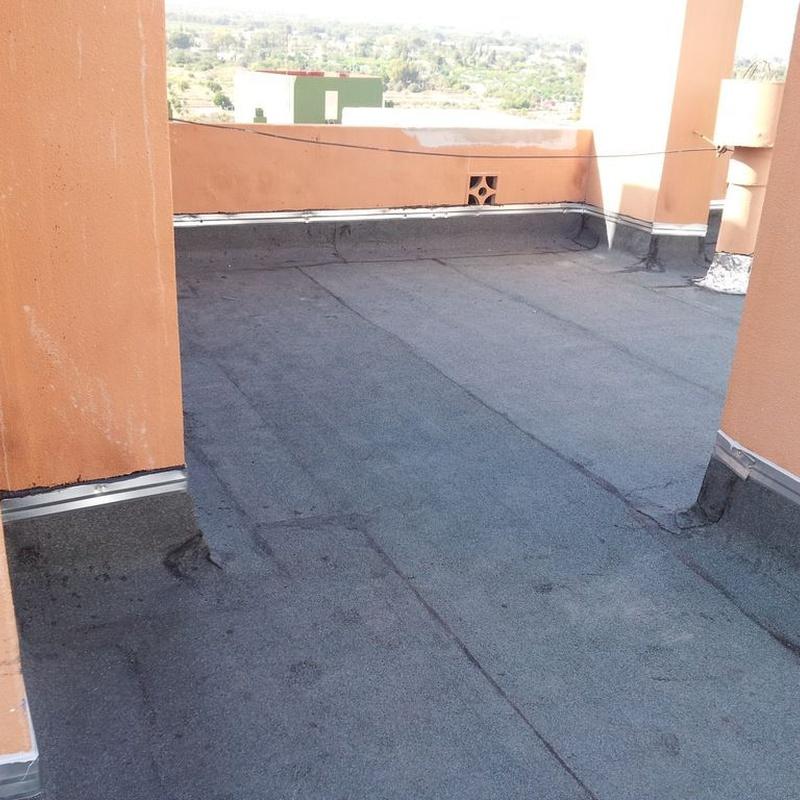 Impermeabilización de terrazas: Servicios de Galana, S.L.L. Impermeabilizaciones