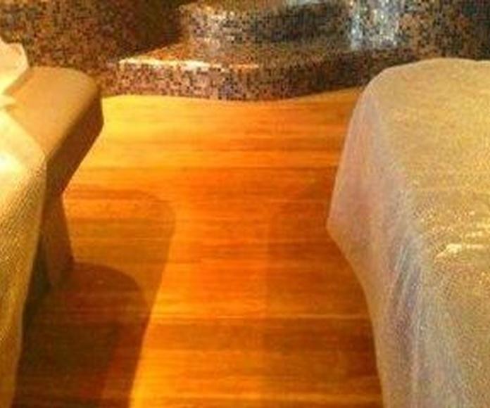 Tarima de Bambú en interior