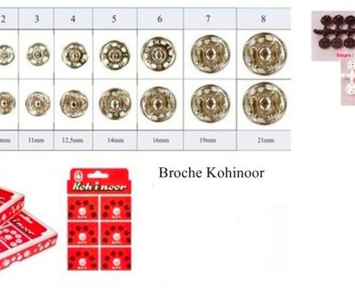 BROCHES KOHINOOR-BROCHES PLASTICO