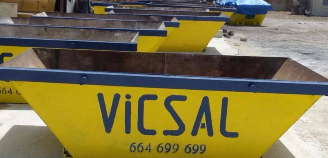 Contenedores para escombros en Alzira