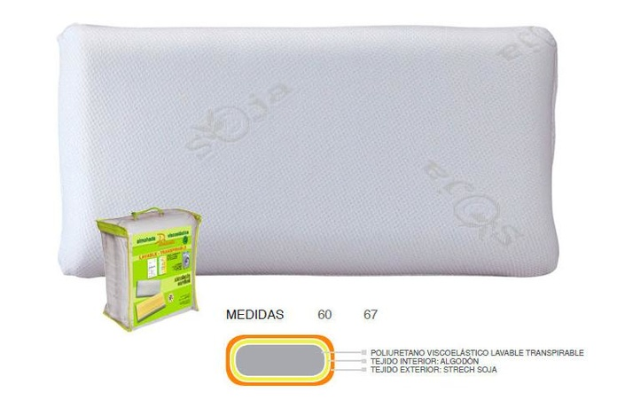 ALMOHADA VISCO LAVABLE TRANSPIRABLE IBERLAX