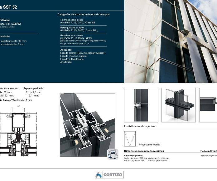 Fachada SST 52: Catálogo de Jgmaluminio