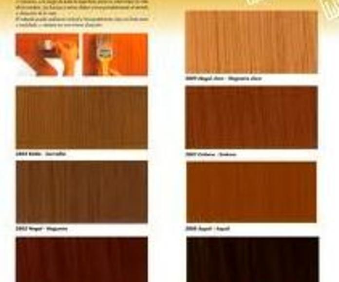 Carta de colores Titanlak efecto madera