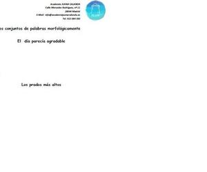 Tu academia de apoyo propone: Análisis morfológico para alumnos de 5º y 6º de Primaria y ESO.