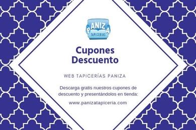 CUPONES DE DESCUENTO WEB- TAPICERÍAS PANIZA, SL