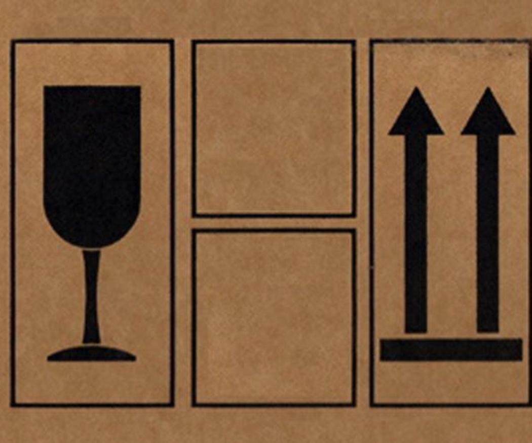 Los símbolos más utilizados en las cajas de cartón