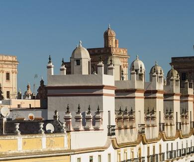 Torres-mirador de Cádiz y Dentista Javier Pérez