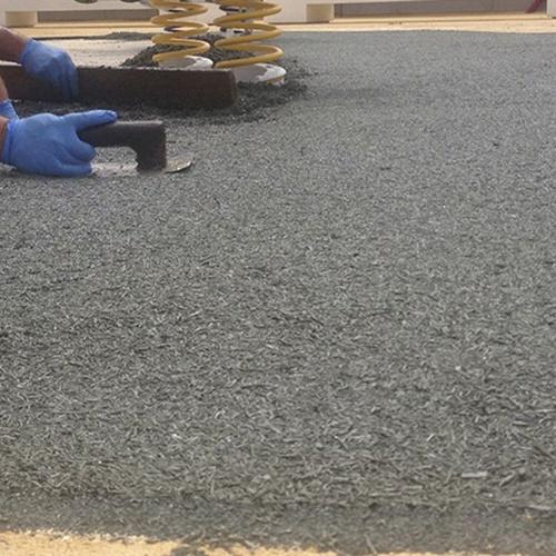 Instalación de pavimentos de caucho en Quart de Poblet