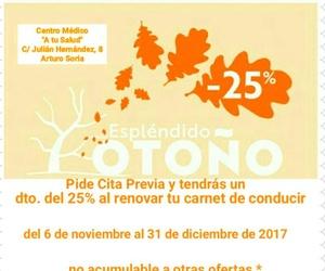 Renovar el carnet 25% dto. Previa cita A tu Salud Arturo Soria