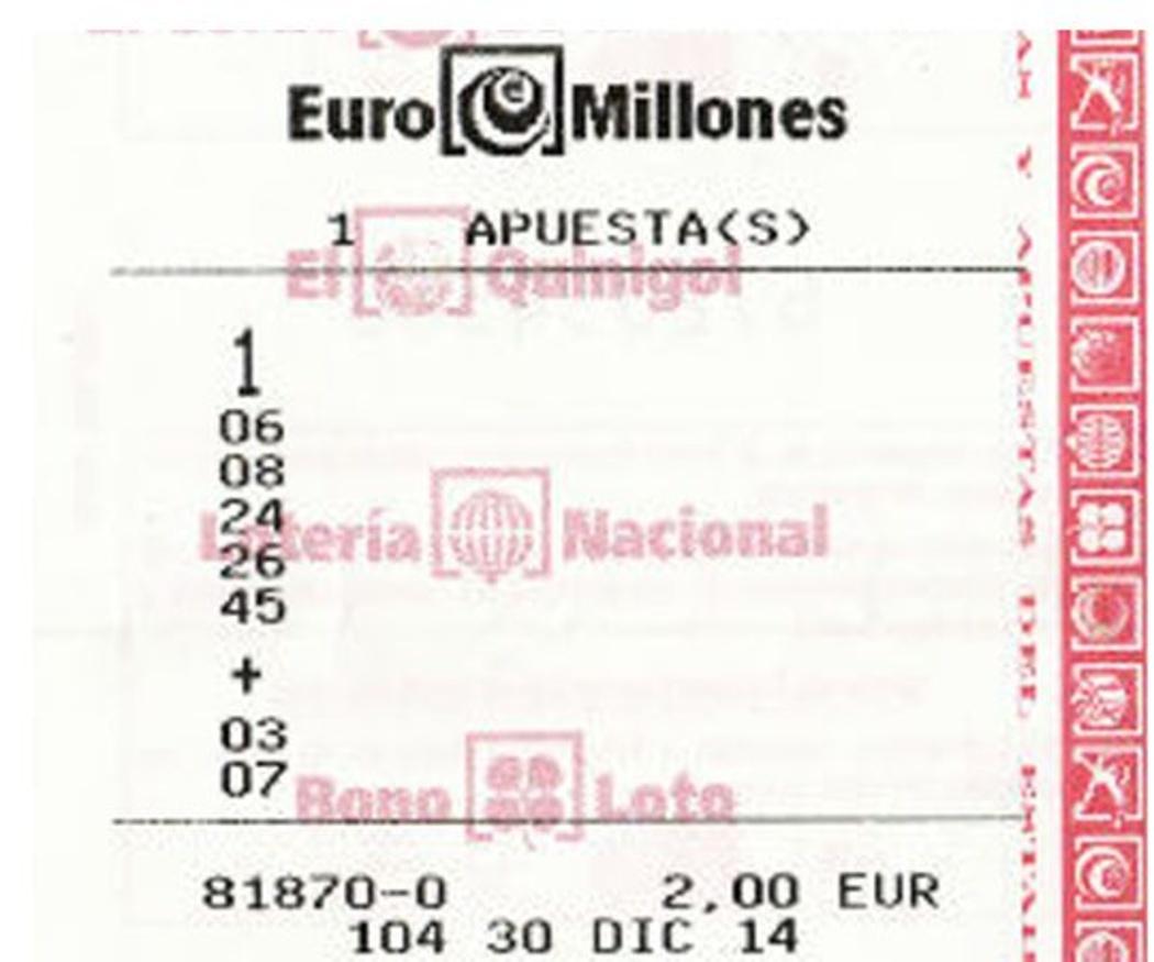 ¿Cómo es el boleto del EuroMillones?