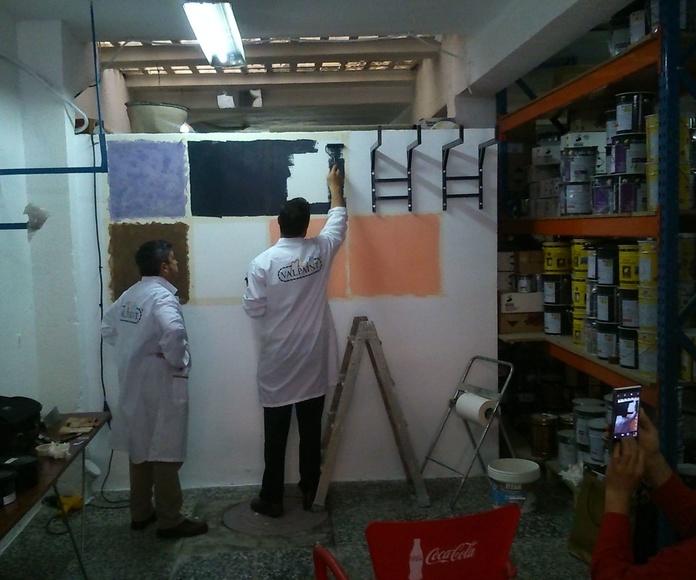 Presentación y demostración de productos Valpaint. Mavericks, Arteco 7, Polistof y Klondike