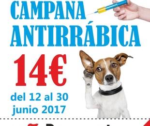 Campaña Antirrábica 2017. Precio 14€ y 10% descuento extra al traer el cupón impreso.