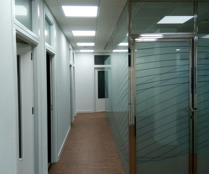 Oficinas SAES (NAVANTIA) Cartagena. Tabiques y Falsos techos de Obra Seca