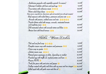 This is our menu