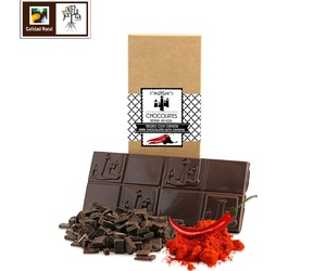 Tableta de chocolate negro con cayena