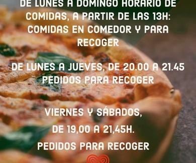 HORARIOS COMEDOR Y RECOGIDA, MIENTRAS NO VUELVAN A CAMBIARNOS LAS NORMAS.
