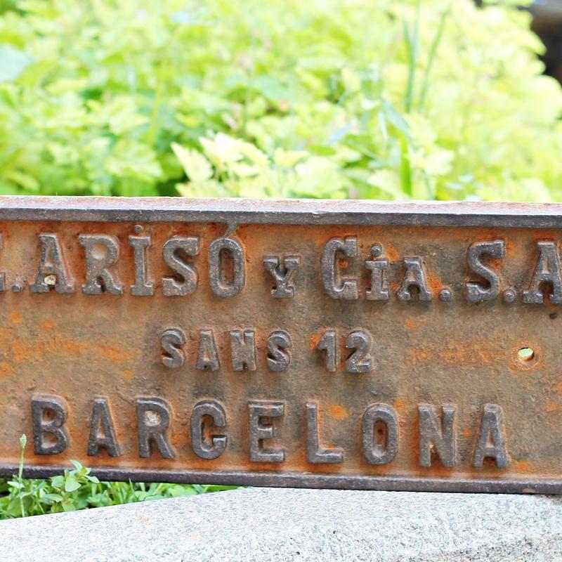 Placa de hierro industrial:  de Ruzafa Vintage