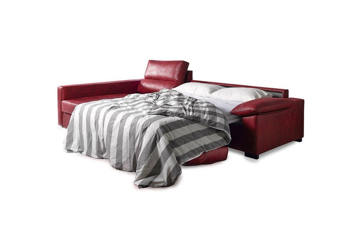 sofá 3 plazas cama, apertura italiana con chaiselonge.