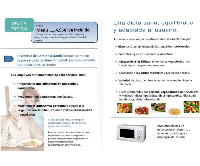Servicio de Comida a Domicilio: QUE LE PODEMOS OFRECER de AMA Asistencia Domiciliaria