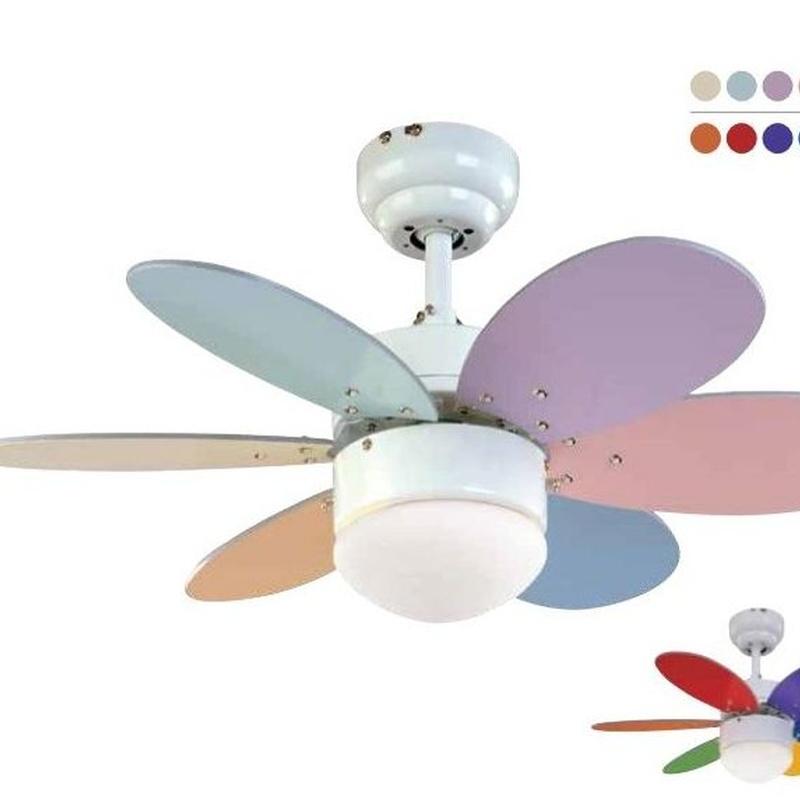 Ventilador modelo rainbow colores + colores pastel