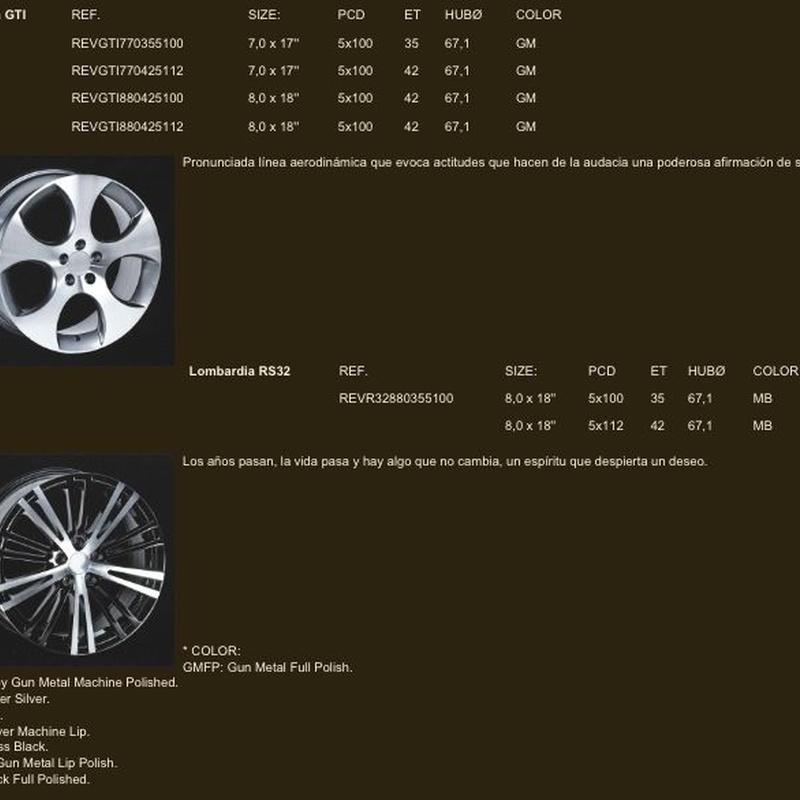 Llantas para Volkswagen  : Neumáticos Primeras Marcas  de Big Sur Neumáticos