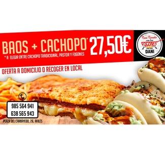 Baos + cachopo 27.50€