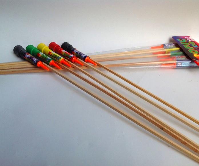 Cohetes de colores.