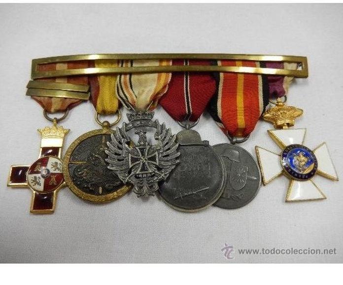 División Azul. Pasador de condecoraciones: Catálogo de Antiga Compra-Venta