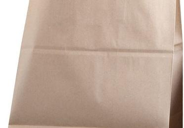 Bolsas de papel asa plana kraft liso.