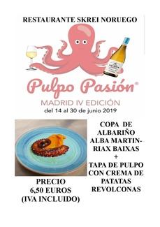 Pulpo Pasion-Madrid IV Edicion-del 14 al 30 de Junio 2019