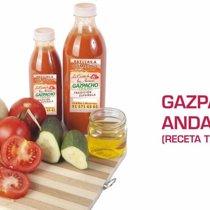 Gazpacho andaluz casero: Servicio a domicilio de La Casita de los Arroces
