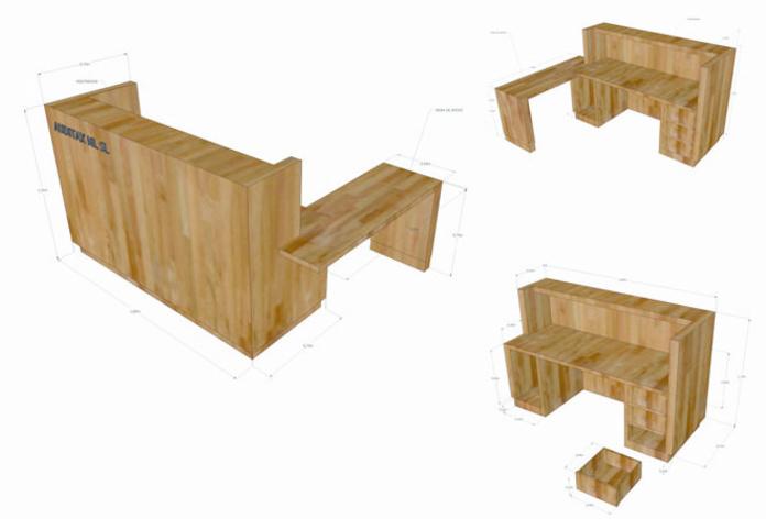 Diseño de mobiliario. Mostrador.