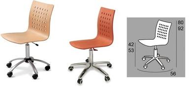 silla giratoria en madera cerezo o haya en oferta limitada