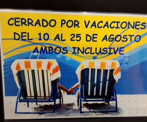 Vacaciones del 10 al 25 ambos inclusive. ...