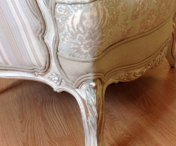 Restauración: Butaca estilo Luis XV restaurada y retapizada: Catálogo de Ste Odile Decoración