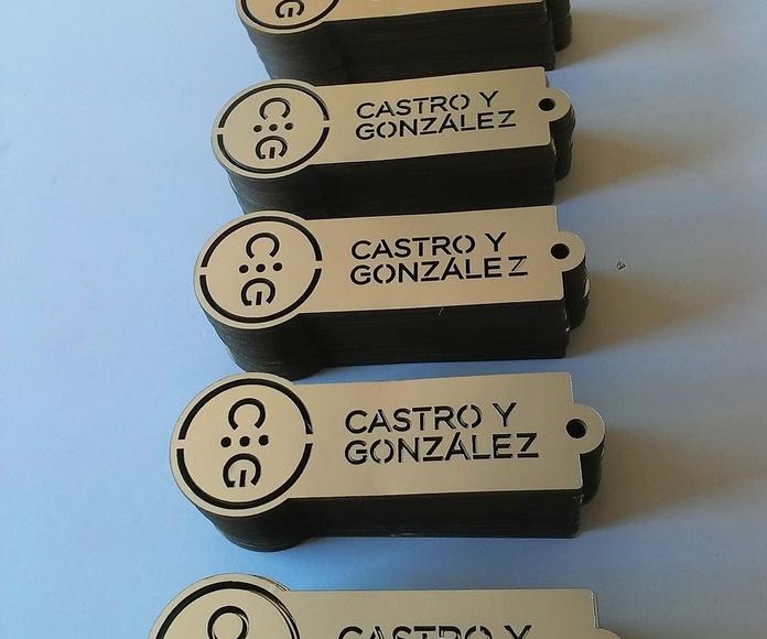 Corte de Etiquetas en cartón para Castro y González