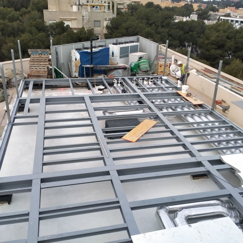 Fabricacion de estructura 16 x 12m2 en Hotel Goden Salou: Trabajos realizados de Global Metall, S.C.P.