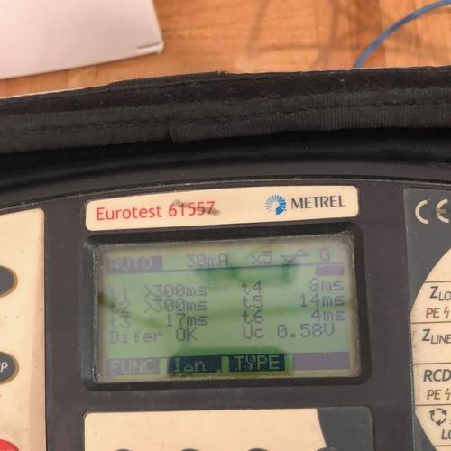 Test de interruptor diferencial