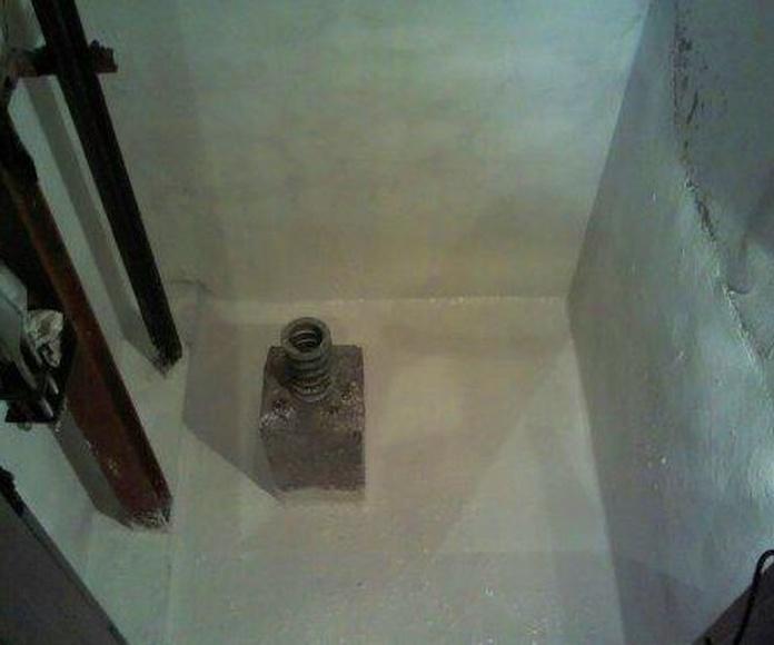 impermeabilizacion de foso de ascensor gijon