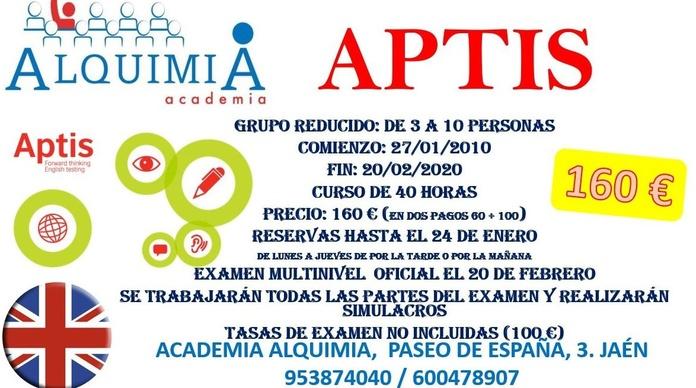 B1-B2-C1 APTIS. Examen oficial 21 de febrero: NUESTRA OFERTA FORMATIVA de Alquimia