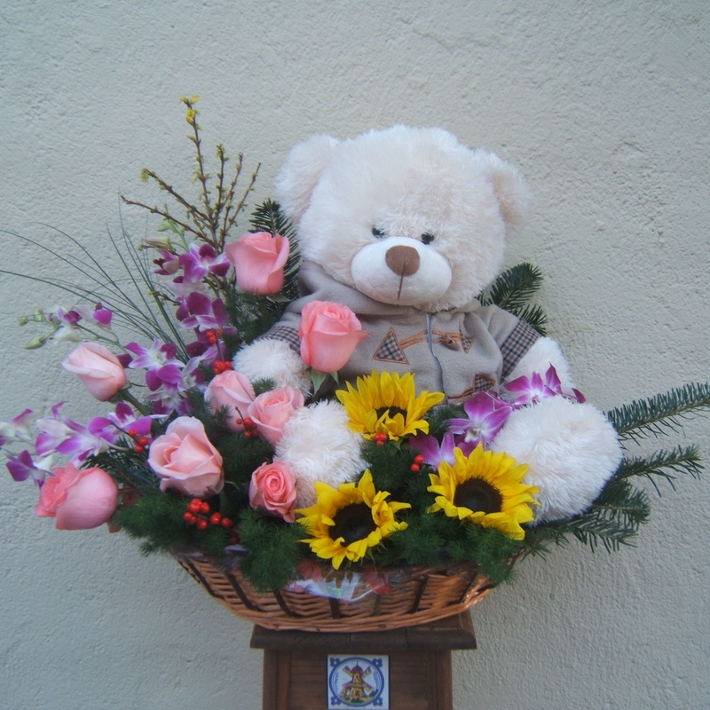 centro con oso, envio de flores a domicilio centro madrid