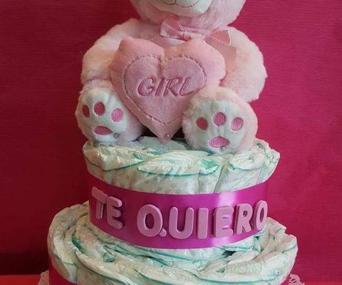 tarta pañales amor