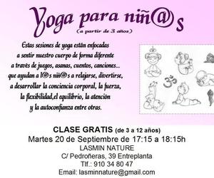 Clase de Prueba  (Yoga para Niños (03 a 12 años). Gratis.
