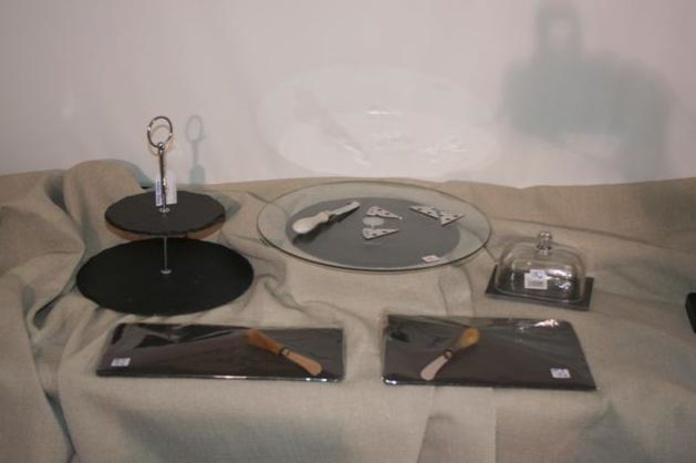 Tabla de quesos pizarra y cristal: Catálogo de Ste Odile Decoración