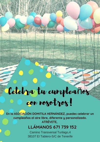Celebración de cumpleaños infantiles en Tenerife: Proyectos y Servicios de Asociación Domitila